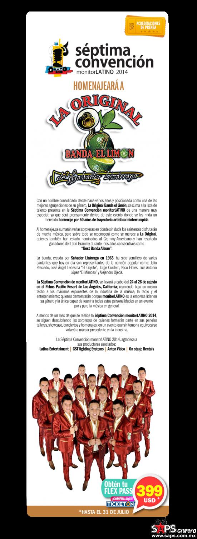 La Convención monitorLATINO homenajeará a La Original Banda el Limón