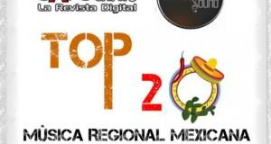Top 20 de la Música Popular de la zona PACIFICO de México por Scanner Sound del 28 de Julio al 3 de Agosto de 2014