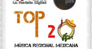 Top 20 de la Música Popular de la zona SURESTE de México por Scanner Sound del 8 al 14 de Septiembre de 2014