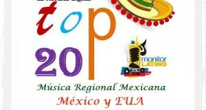 Top 20 de la Música Popular en MEXICO y EUA por Monitor Latino del 25 al 31 de Agosto de 2014