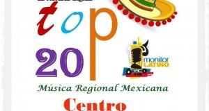 Top 20 de la Música Popular del CENTRO por Monitor Latino del 18 al 24 de Agosto de 2014