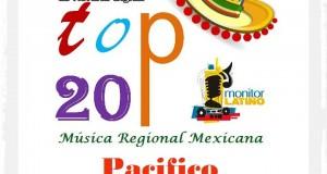Top 20 de la Música Popular del PACÍFICO por Monitor Latino del 8 al 14 de Septiembre de 2014