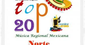 Top 20 de la Música Popular del NORTE por Monitor Latino del 18 al 24 de Agosto de 2014