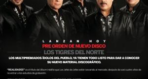 """Los Tigres Del Norte su nuevo disco """"REALIDADES"""" ya en pre orden"""