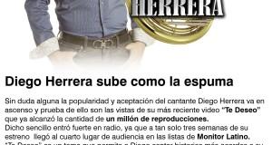 Diego Herrera sube como la espuma