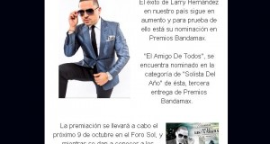 """Larry Hernández nominado como """"Solista Del Año"""""""