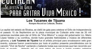 Los Tucanes de Tijuana rompen record en Culiacán, Sinaloa
