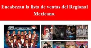 Los Recoditos encabezan la lista de ventas del regional mexicano