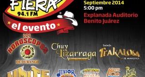 Horóscopos, Chuy Lizárraga y Límite en La Fiera El Evento 2014