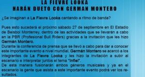 Fievre Looka hará dueto con Germán Montero