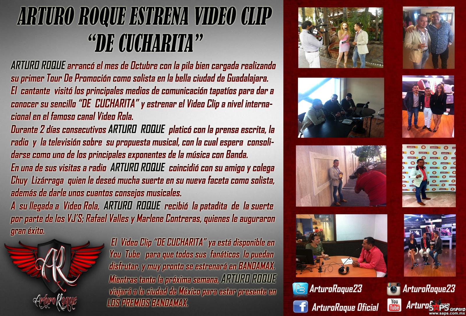 "Arturo Roque estrena video clip ""De Cucharita"""