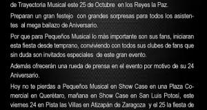 Banda Pequeños Musical festeja a lo grande su 24 Aniversario