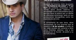 """""""Dime"""" lo más nuevo de Julión Álvarez y su Norteño Banda"""