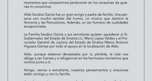 Comunicado oficial de El Recodo sobre la muerte de Aldo Sarabia