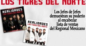 Los Jefes de Jefes demuestran su poderío al encabezar lista de ventas del Regional Mexicano