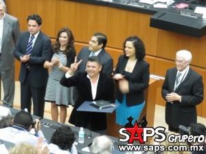Alegres de la Sierra reconocidos en la Camara de Senadores