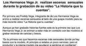 """Los Hnos. Vega Jr. filman escenas sensuales para el video de """"La Historia Que Tú Cuentas"""""""