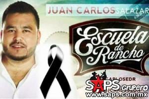 Fallece Juan Carlos Salazar de la agrupación Escuela de Rancho en accidente de tránsito