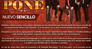 """Los Invasores de Nuevo León presentan el sencillo """"Si Se Me Pone"""""""