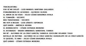 """Track list de """"EL AFERRADO"""" de Julión Alvarez"""