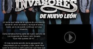 """""""Qué Más Quieres De Mí"""" es lo nuevo de Los Invasores de Nuevo León"""