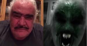 Vicente Fernández aterroriza a sus fanáticos en Halloween
