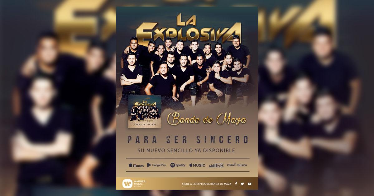 """c9755182ee4 La Explosiva Banda de Maza estrena su nuevo sencillo """"Para Ser Sincero"""""""