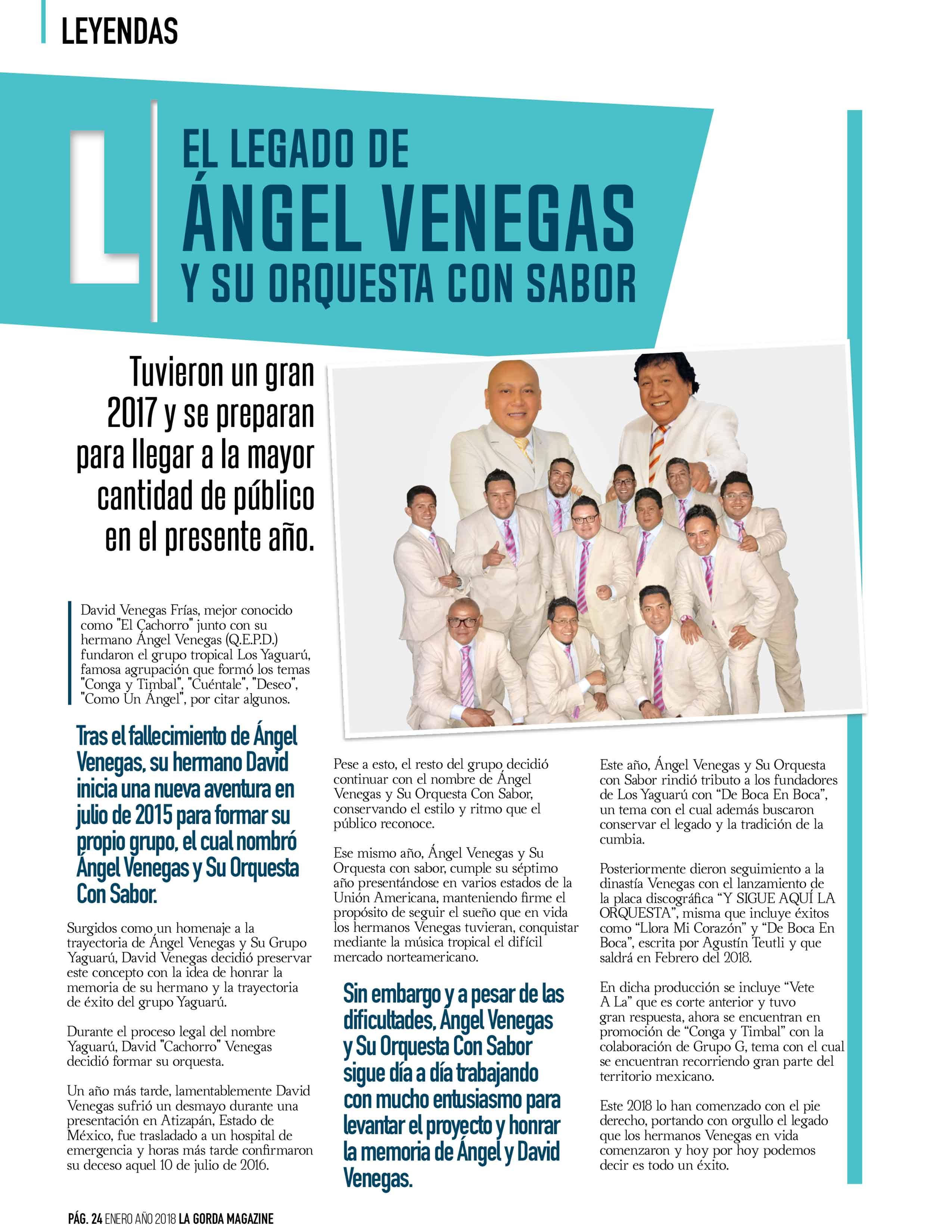 Ángel Venegas Y Su Orquesta Con SaborÁngel Venegas Y Su Orquesta Con Sabor