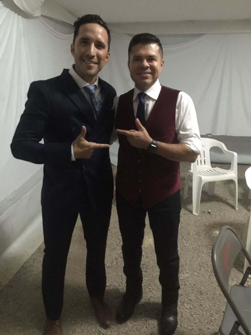 Jorge Medina con Tony Nusa Rey del Carnaval