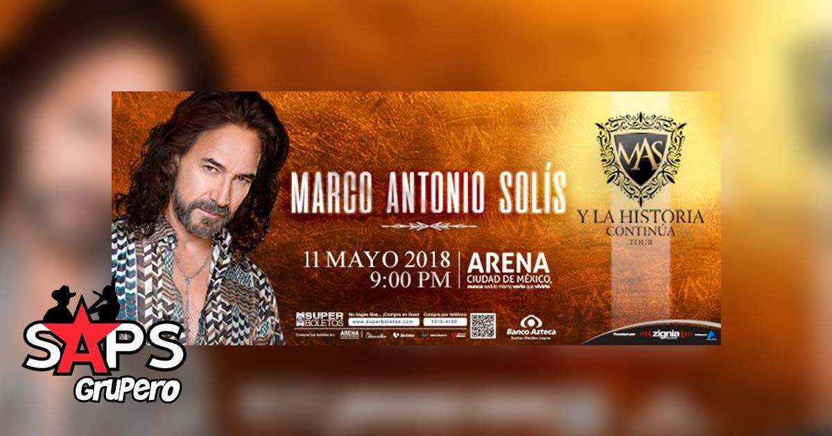 Marco Antonio Solís el próximo 11 de Mayo en la Arena Ciudad de México