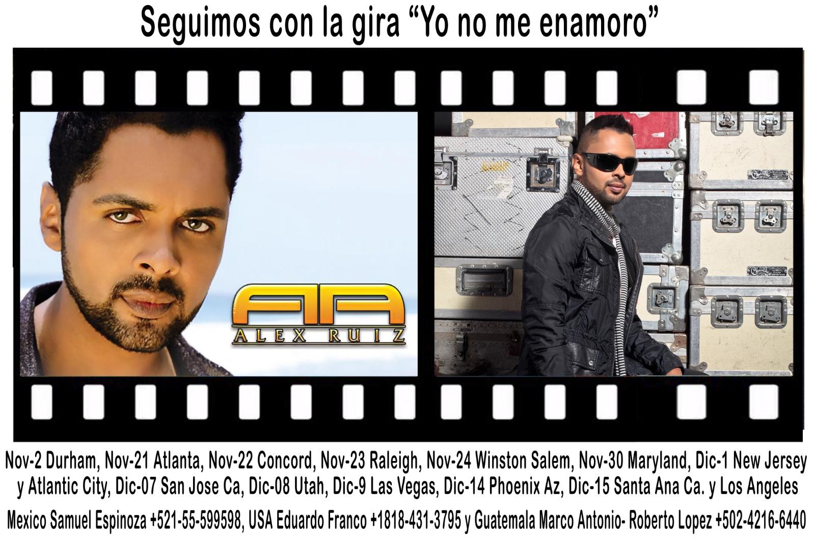 Alex Ruiz, agenda