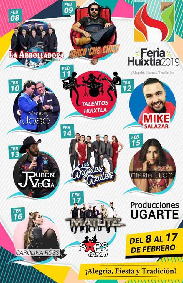 Feria Huixtla 2019, cartelera oficial