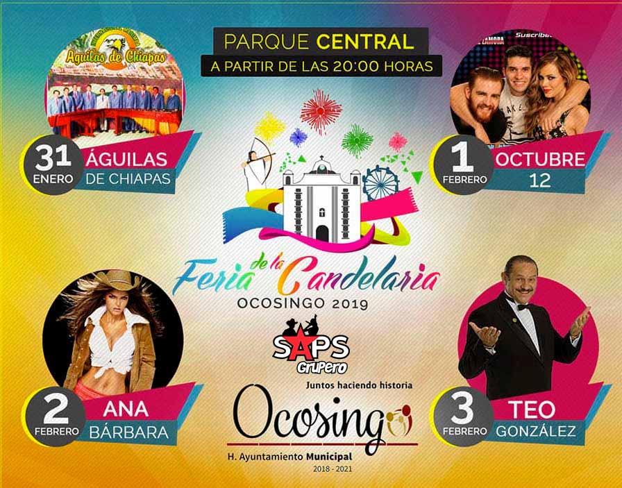 Feria de la Candelaria 2019 de Ocosingo, cartelera oficial
