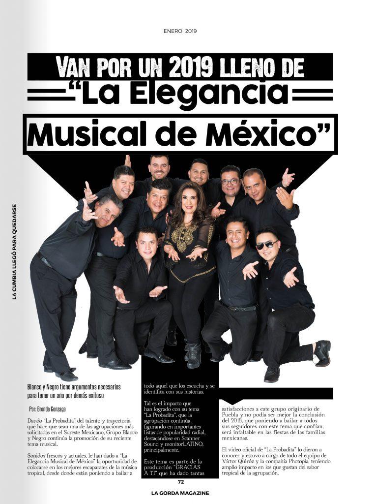 """Blanco y Negro, """"La Elegancia Musical de México"""""""