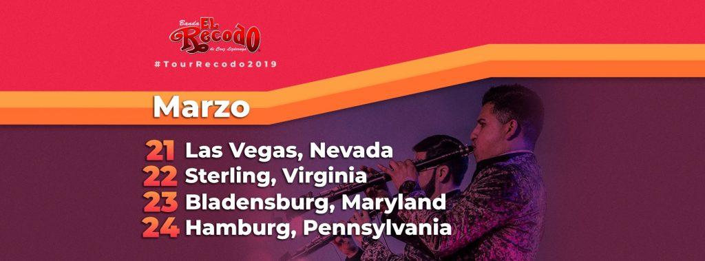 Banda El Recodo, Agenda de Presentaciones