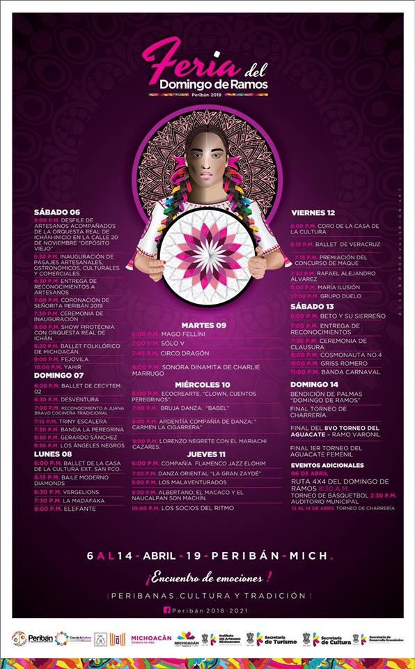 Feria Peribán 2019, Cartelera Oficial