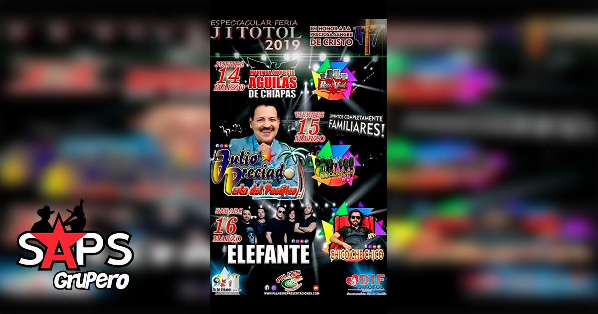 Feria Jitotol 2019, Cartelera Oficial