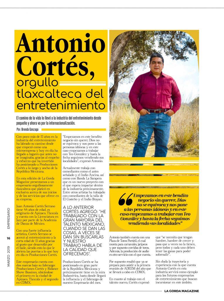 Antonio Cortés - La Gorda Magazine