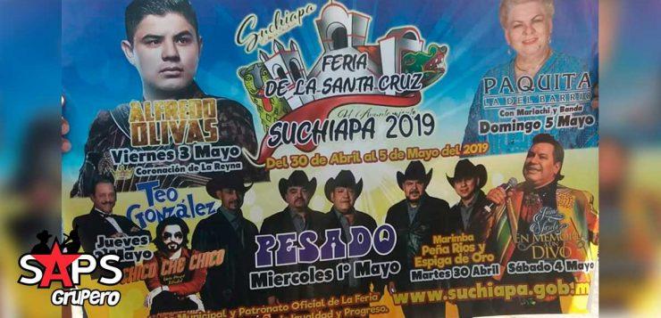 Feria de la Santa Cruz Suchiapa 2019, Cartelera Oficial