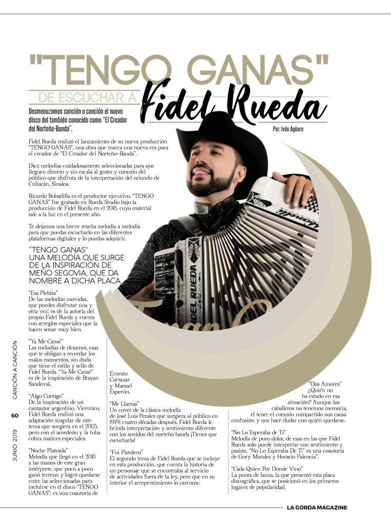 TENGO GANAS, FIDEL RUEDA,
