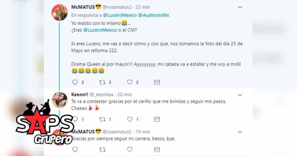 Lucero, Twitter