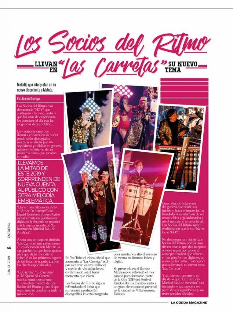 La Gorda Magazine, Los Socios del Ritmo