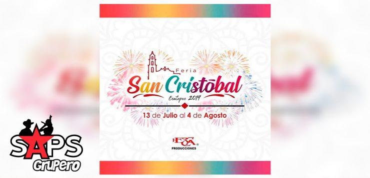 Feria San Cristóbal Ecatepec 2019 – Cartelera Oficial
