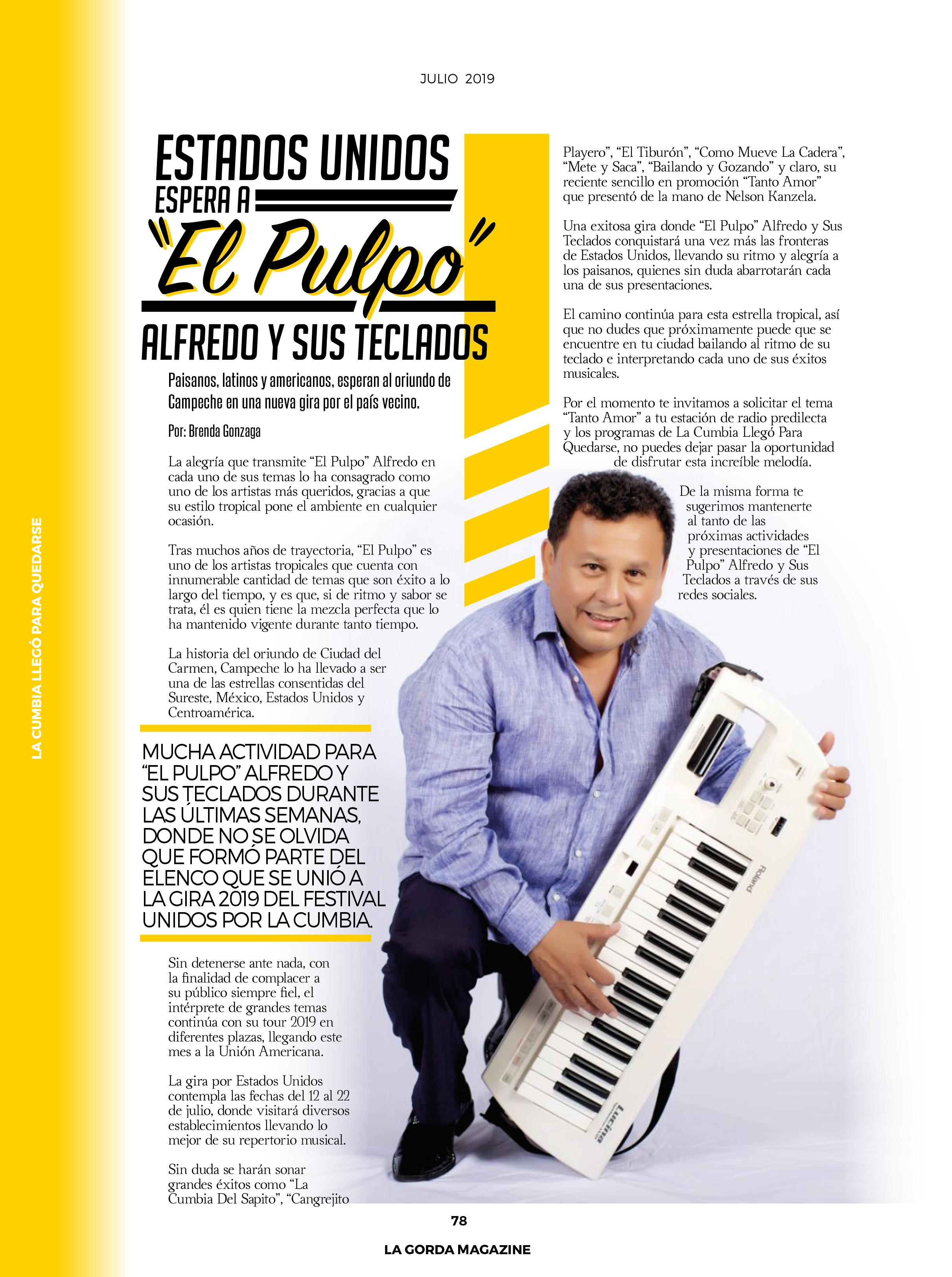 """""""El Pulpo"""" Alfredo y Sus Teclados"""