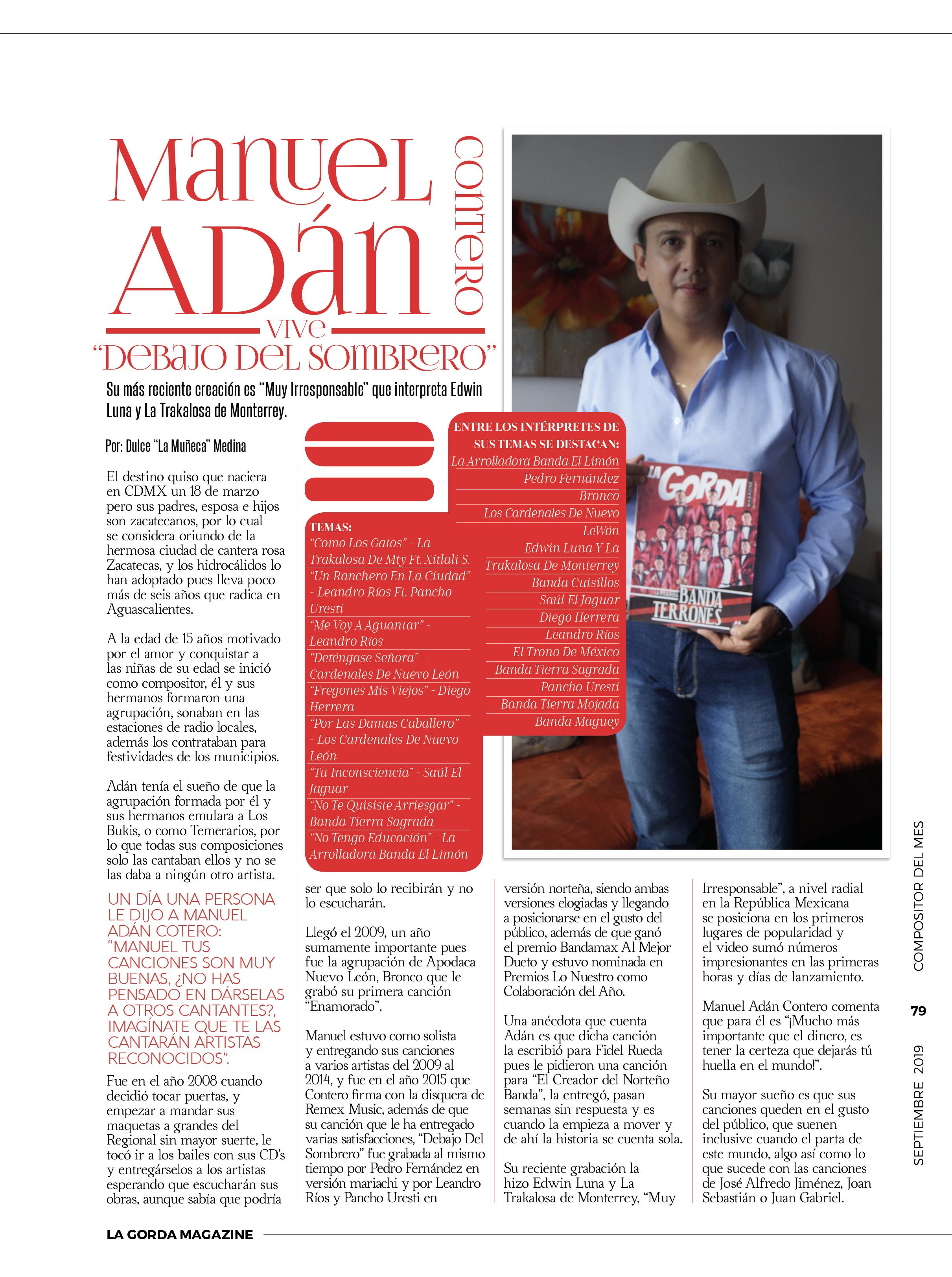 Manuel Adán Contero - La Gorda Magazine