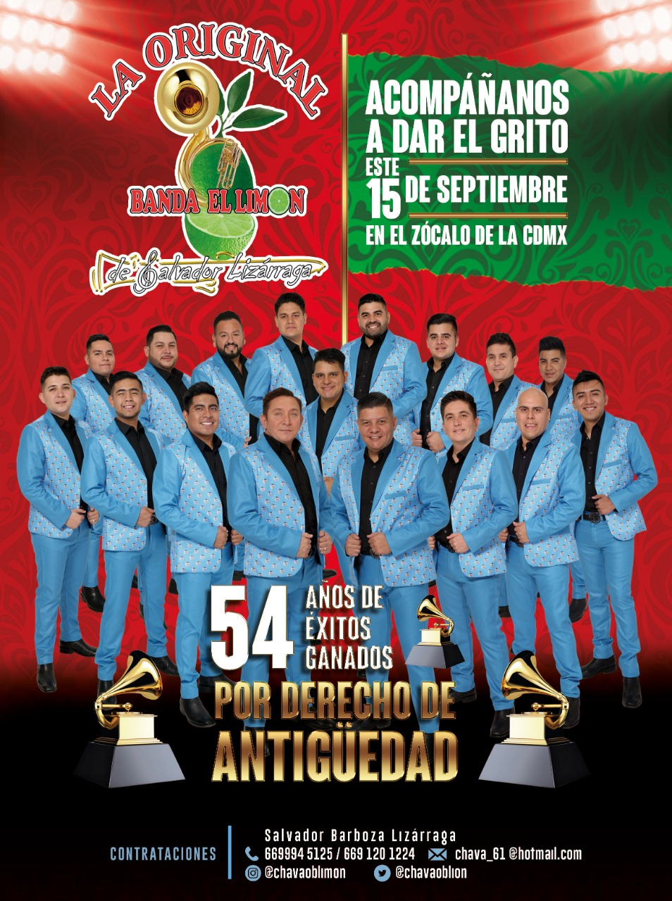 La Original Banda El Limón, Zócalo