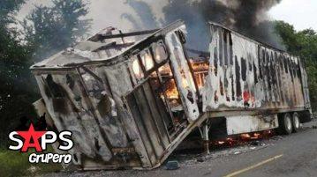 Incendia camión de Hugo Ruiz