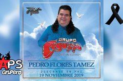 Pedro Flores, Grupo Pegasso, muere