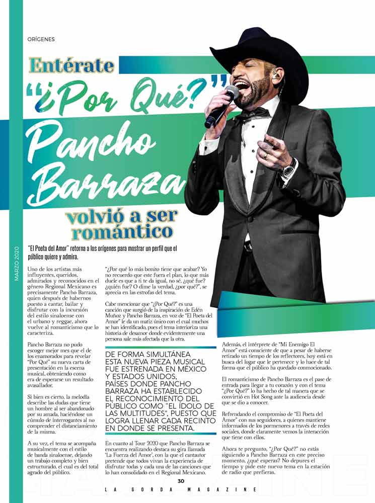 Pancho Barraza en La Gorda Magazine