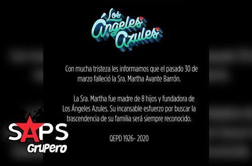 Fallece madre de Los Ángeles Azules